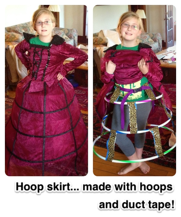 Hoop skirt -- made with real hoops!